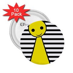 Yellow pawn 2.25  Buttons (10 pack)
