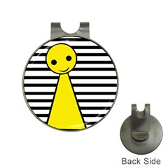 Yellow pawn Hat Clips with Golf Markers