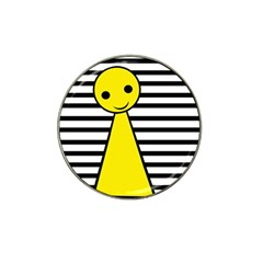 Yellow pawn Hat Clip Ball Marker