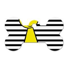 Yellow pawn Dog Tag Bone (One Side)