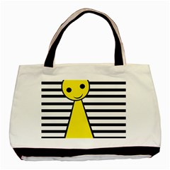 Yellow pawn Basic Tote Bag (Two Sides)