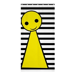 Yellow pawn Shower Curtain 36  x 72  (Stall)