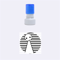 Yellow pawn Rubber Round Stamps (Small)