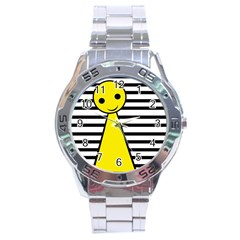 Yellow pawn Stainless Steel Analogue Watch