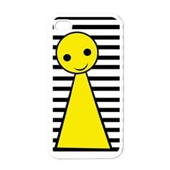 Yellow pawn Apple iPhone 4 Case (White)