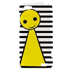 Yellow pawn HTC One V Hardshell Case