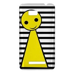 Yellow pawn HTC One SU T528W Hardshell Case