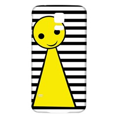 Yellow pawn Samsung Galaxy S5 Back Case (White)