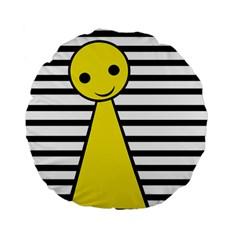Yellow pawn Standard 15  Premium Flano Round Cushions