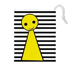 Yellow pawn Drawstring Pouches (Extra Large)
