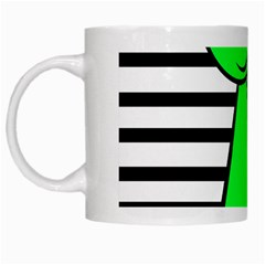 Green pawn White Mugs