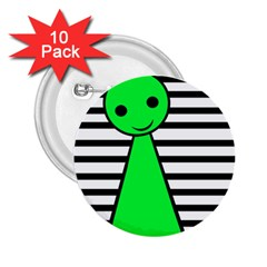 Green pawn 2.25  Buttons (10 pack)