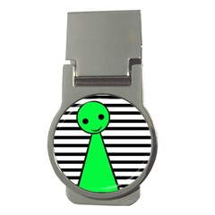 Green Pawn Money Clips (round)