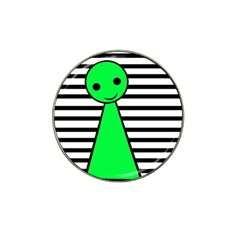 Green pawn Hat Clip Ball Marker
