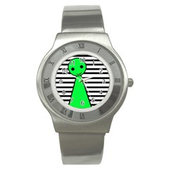Green pawn Stainless Steel Watch