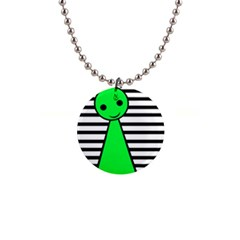 Green pawn Button Necklaces