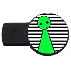 Green pawn USB Flash Drive Round (4 GB)