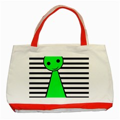 Green pawn Classic Tote Bag (Red)
