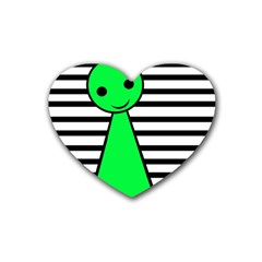 Green pawn Rubber Coaster (Heart)