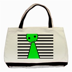 Green pawn Basic Tote Bag (Two Sides)