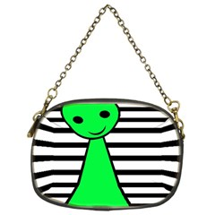 Green pawn Chain Purses (One Side)