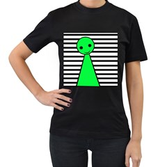 Green pawn Women s T-Shirt (Black)