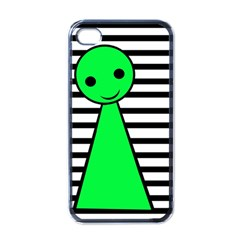 Green pawn Apple iPhone 4 Case (Black)