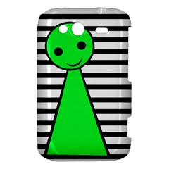 Green pawn HTC Wildfire S A510e Hardshell Case
