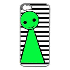 Green pawn Apple iPhone 5 Case (Silver)