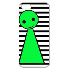 Green pawn Apple Seamless iPhone 5 Case (Clear)