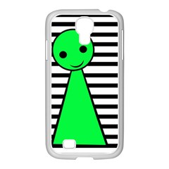 Green pawn Samsung GALAXY S4 I9500/ I9505 Case (White)