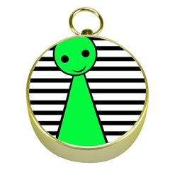 Green pawn Gold Compasses
