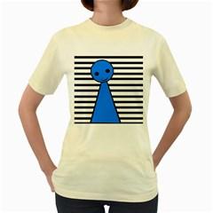 Blue pawn Women s Yellow T-Shirt