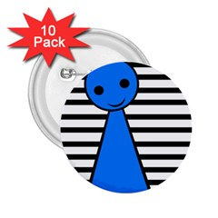 Blue pawn 2.25  Buttons (10 pack)