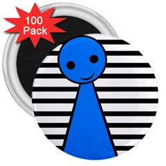 Blue pawn 3  Magnets (100 pack)