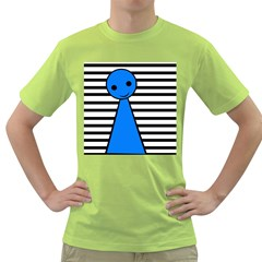 Blue pawn Green T-Shirt