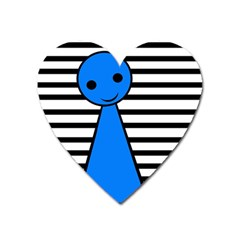Blue Pawn Heart Magnet