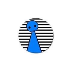 Blue pawn Golf Ball Marker