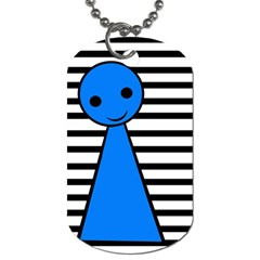 Blue pawn Dog Tag (Two Sides)