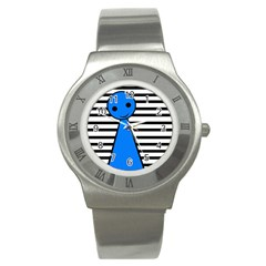 Blue pawn Stainless Steel Watch