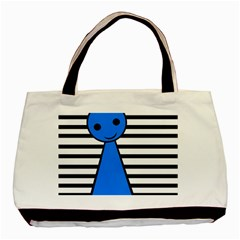 Blue pawn Basic Tote Bag (Two Sides)