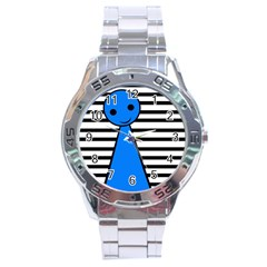 Blue pawn Stainless Steel Analogue Watch