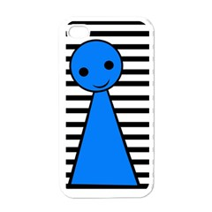 Blue pawn Apple iPhone 4 Case (White)