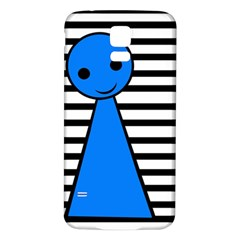 Blue pawn Samsung Galaxy S5 Back Case (White)