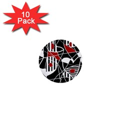 Artistic abstraction 1  Mini Buttons (10 pack)