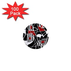 Artistic abstraction 1  Mini Magnets (100 pack)
