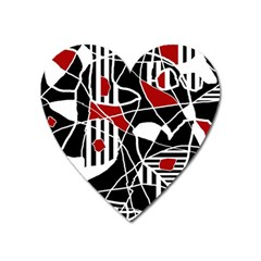 Artistic abstraction Heart Magnet