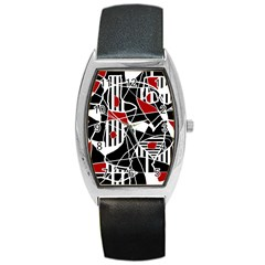 Artistic abstraction Barrel Style Metal Watch