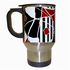 Artistic abstraction Travel Mugs (White)