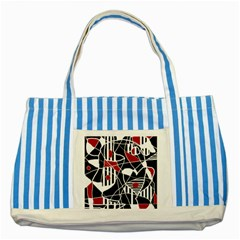 Artistic abstraction Striped Blue Tote Bag